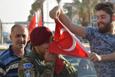 Kerkük'de Türk bayraklı sevinç gösterileri