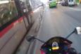 Kayseri'de tramvaya kafa tutan motosikletli