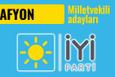 İyi Parti Afyon milletvekili adayları 2018 listesi