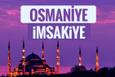 2018 İmsakiye Osmaniye- Sahur imsak vakti iftar ezan saatleri