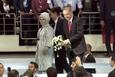 Cumhurbaşkanı Erdoğan kongre salonunda partilileri böyle selamladı