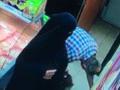 Çarşafıyla beş markette hırsızlık yaptı