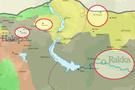 Haritadaki 4 kritik yer PYD'nin Türkiye'den ödü kopuyor!
