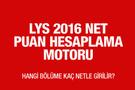 LYS net puan hesaplama motoru 2016 YÖK atlas