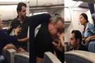 Uçakta başlayan kavga istanbul'da bitti