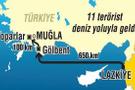 İşte PKK'nın yeni rotası! O tekne 45 günde 6 sefer yapmış!