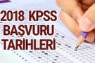 2018 KPSS ne zaman başvuru tarihleri milyonlarca aday bekliyor