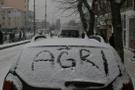Ağrı hava durumu kötü kar yağışı için alarm