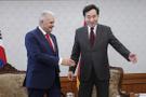 Yıldırım Güney Kore Başbakanı arasında ilginç diyalog