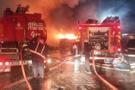 Atık tesisinde çıkan yangın korkuttu!