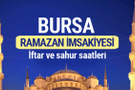 Bursa Ramazan imsakiyesi 2017