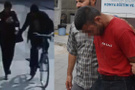 Kamerada gördüğü bisikletli tacizci kocası çıktı