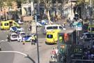Barcelona'da bir minibüs kalabalığın arasına daldı