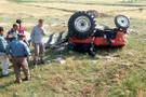 Antalya'da traktör devrildi: 1 ölü, 1 yaralı
