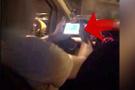 Yolcu dehşet anlarını böyle kaydetti arabayı kullanırken bir anda...