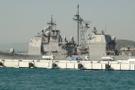 Askeri gemide yangın! 11 kişi hastaneye kaldırıldı