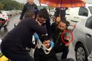 Korkunç kaza! Motosiklet sürücüsünün parmağı koptu