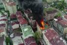 Halkalı'da korkutan yangın! Alevler binayı sardı