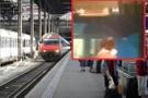 İğrenç olay! İki erkek tren istasyonunda çırılçıplak