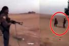 YPG'li teröristten kan donduran görüntü! Kurşuna dizip infaz etti