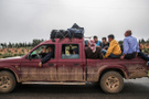 Afrin bölgesinde Azez'den İdlib'e giderken...