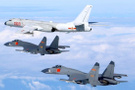 Çin savaş uçaklarıyla gözdağı verdi