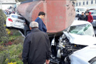 Başakşehir'de korkunç kaza yol savaş alanına döndü