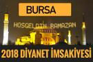 2018 İmsakiye Bursa- Sahur imsak vakti iftar ezan saatleri