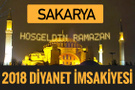 2018 İmsakiye Sakarya- Sahur imsak vakti iftar ezan saatleri