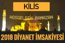 2018 İmsakiye Kilis- Sahur imsak vakti iftar ezan saatleri