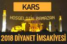 2018 İmsakiye Kars- Sahur imsak vakti iftar ezan saatleri