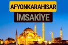Afyonkarahisar İmsakiye 2018 iftar sahur imsak vakti ezan saati