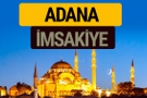 Adana İmsakiye 2018 iftar sahur imsak vakti ezan saati