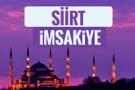 Siirt iftar saati sahur imsak vakti-2018 Siirt İmsakiyesi