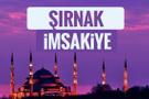 Şırnak iftar saati sahur imsak vakti-2018 Şırnak İmsakiyesi