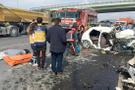 Arnavutköy'de korkunç kaza otomobilde feci şekilde öldüler