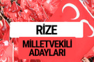 MHP Rize milletvekili adayları 2018 YSK kesin listesi