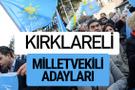 Kırklareli İyi Parti milletvekili adayları YSK kesin isim listesi