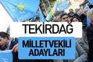 Tekirdağ İyi Parti milletvekili adayları YSK kesin isim listesi
