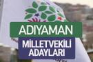 HDP Adıyaman milletvekili adayları 2018 YSK isim listesi