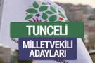 HDP Tunceli milletvekili adayları 2018 YSK isim listesi