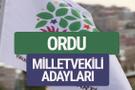 HDP Ordu milletvekili adayları 2018 YSK isim listesi