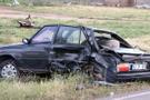 14 yaşındaki çocuğun kullandığı otomobil ciple çarpıştı