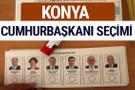 Konya Cumhurbaşkanları oy oranları YSK Sandık sonuçları