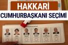 Hakkari Cumhurbaşkanları oy oranları YSK Sandık sonuçları