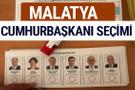 Malatya Cumhurbaşkanları oy oranları YSK Sandık sonuçları