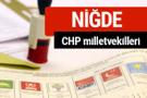 CHP Niğde Milletvekilleri 2018 - 27. dönem Niğde listesi