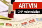 CHP Artvin Milletvekilleri 2018 - 27. dönem Artvin listesi