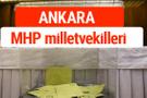 MHP Ankara Milletvekilleri 2018 -27. Dönem listesi