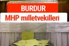 MHP Burdur Milletvekilleri 2018 -27. Dönem listesi